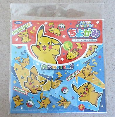 Made in Japan Chiyogami Pokemon Characters Pikachu Mew Origami Paper