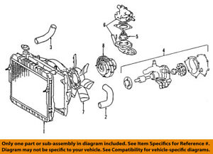 toyota oem 95 04 tacoma engine water pump 161006939883 ebayimage is loading toyota oem 95 04 tacoma engine water pump