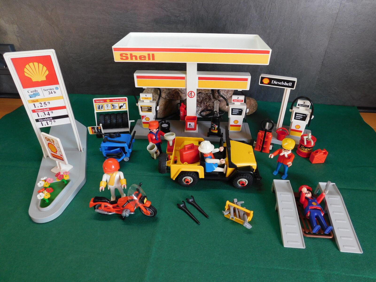 Playmobil Rarität Tankstelle Shell ähnlich 3437-A 1991 ohne OVP