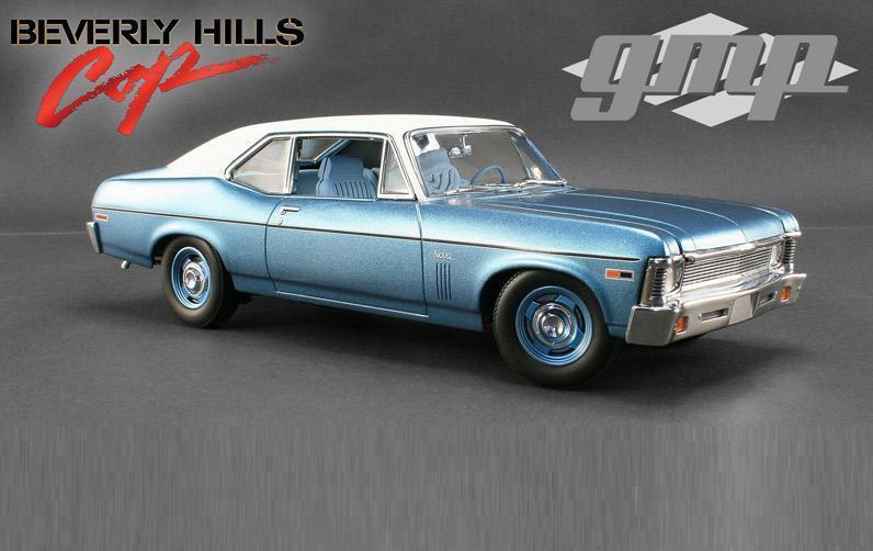 GMP 1 18 Chevrolet NOVA Beverly Hills Cop Diecast Model Car blu 18802