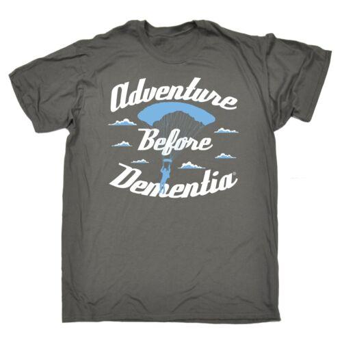 Adventure Before Dementia Parachute T-SHIRT Tee Skydiving Funny Gift Birthday