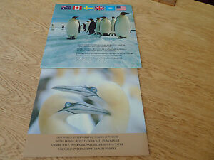 OUR-WORLD-1989-AUSTRALIA-CANADA-SWEDEN-UK-UN-USA-IMAGES-OF-NATURE-BOOK-STAMPS