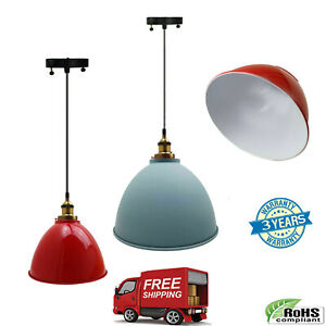 lampshade-industrial-Vintage-Modern-Retro-Style-factory-ceiling-pendant-light-UK