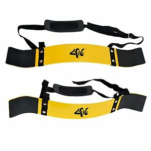 4Fit-Heavy-Duty-Arm-Blaster-Body-Building-Bomber-Bicep-Curl-Triceps-Yellow