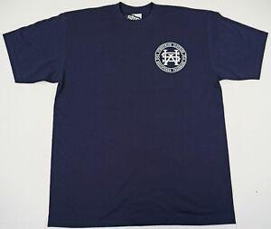STREETWISE-MONOGRAM-T-shirt-Urban-Streetwear-Tee-Men-Navy-Blue-NWT