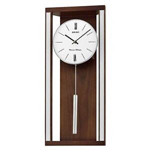 Seiko-Double-Sonnerie-Horloge-Mural-Bois-QXH068B-X-Sclk