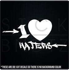 I LOVE HATERS JDM TURBO CUTE FUNNY DECAL STICKER MACBOOK CAR WINDOW MOTORCYCLE