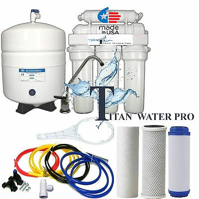 RO REVERSE OSMOSIS WATER SYSTEM ALKALINE pH + Mineral Filter 6 STAGE 100GPD