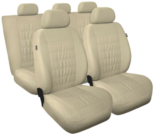 CAR SEAT COVERS full set fit FORD COUGAR Eco leathe leatherette beige