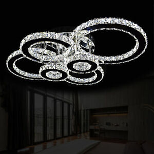 Xl Deckenlampe Led Deckenleuchte Kristall Wohnzimmer Lampe Kalt Warm