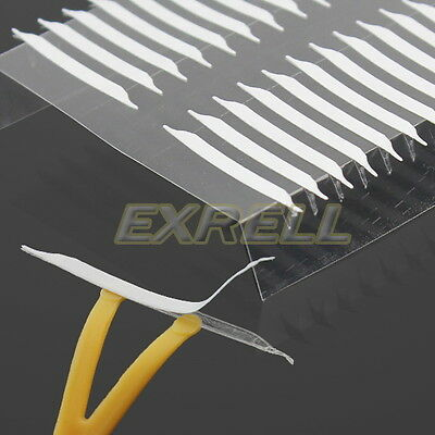 480x Thin invisible Double Eyelid Single-Side Adhesive Eyes Tape Sticker Fork