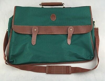 Polo Ralph Lauren Vintage Classic Green Tan Duffle Bag Travel Luggage Rare  Vtg e2828cc35f228