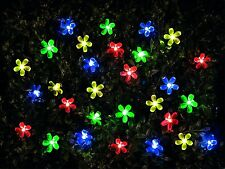 Gardenwize Home Garden Yard Patio 100 LED Solar Flower String Party Fairy Lights