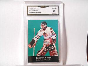 Dominik-Hasek-GRADED-ROOKIE-1991-92-Parkhurst-449-Blackhawks-HOFer-8-1