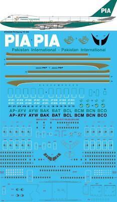 26 Decals 1/144 Pia Pakistan Internazionale Anni '80 Boeing 747-200#sts44309