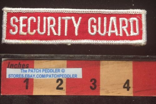 SECURITY GUARD PATCH Generic WHITE RED Security C00H