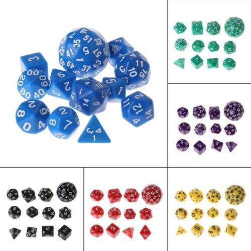 12pcs Multi-sided Polyhedral Dice D4 D6 D8 D10 D12 D20 D24 D30 D60 Dungeons
