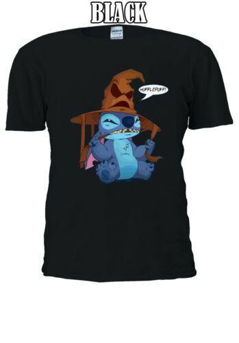 Disney Stitch with Harry Potter Sorting Hat Funny T-shirt  Men Women Unisex V52