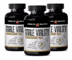 Eleuthero root - MALE VIRILITY ENHANCEMENT Pills - improve blood flow - 3 Bottle