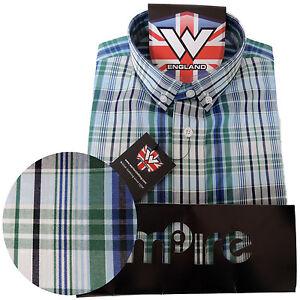 Warrior-UK-England-Button-Down-Shirt-WALLIS-Slim-Fit-Skinhead-Mod-Retro
