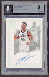 2017-18 Impeccable Indelible Ink Holo Silver DONOVAN MITCHELL 22/49 AUTO BGS 9