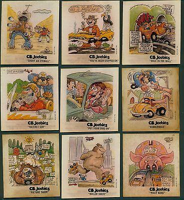 1977 Sunbeam Bread CB Jeebies Iron On Transfers w/o Sunbeam Logo - 17 Different