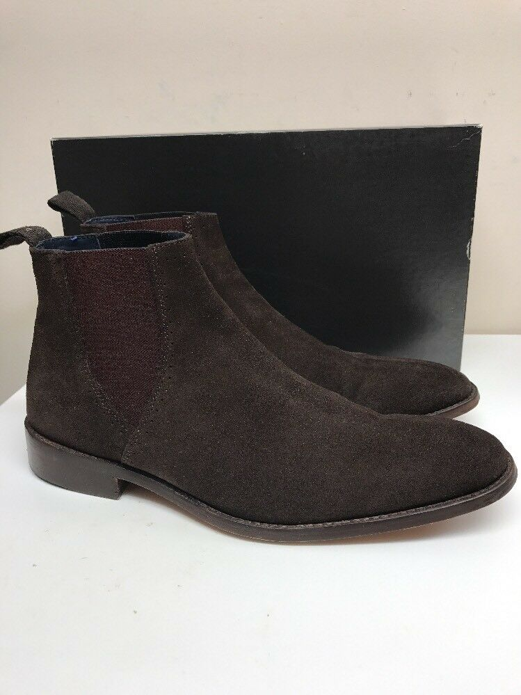 GUCINARI BROWN SUEDE LEATHER CHELSEA ITALIAN GOOD Stiefel,UK 7- GOOD ITALIAN CONDITION 2e764a