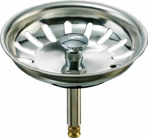 Siebkörbchen Abfluss-Sieb Stöpsel 81mm Siebkorb 3,5 Zoll für Spüle Fernbedienung