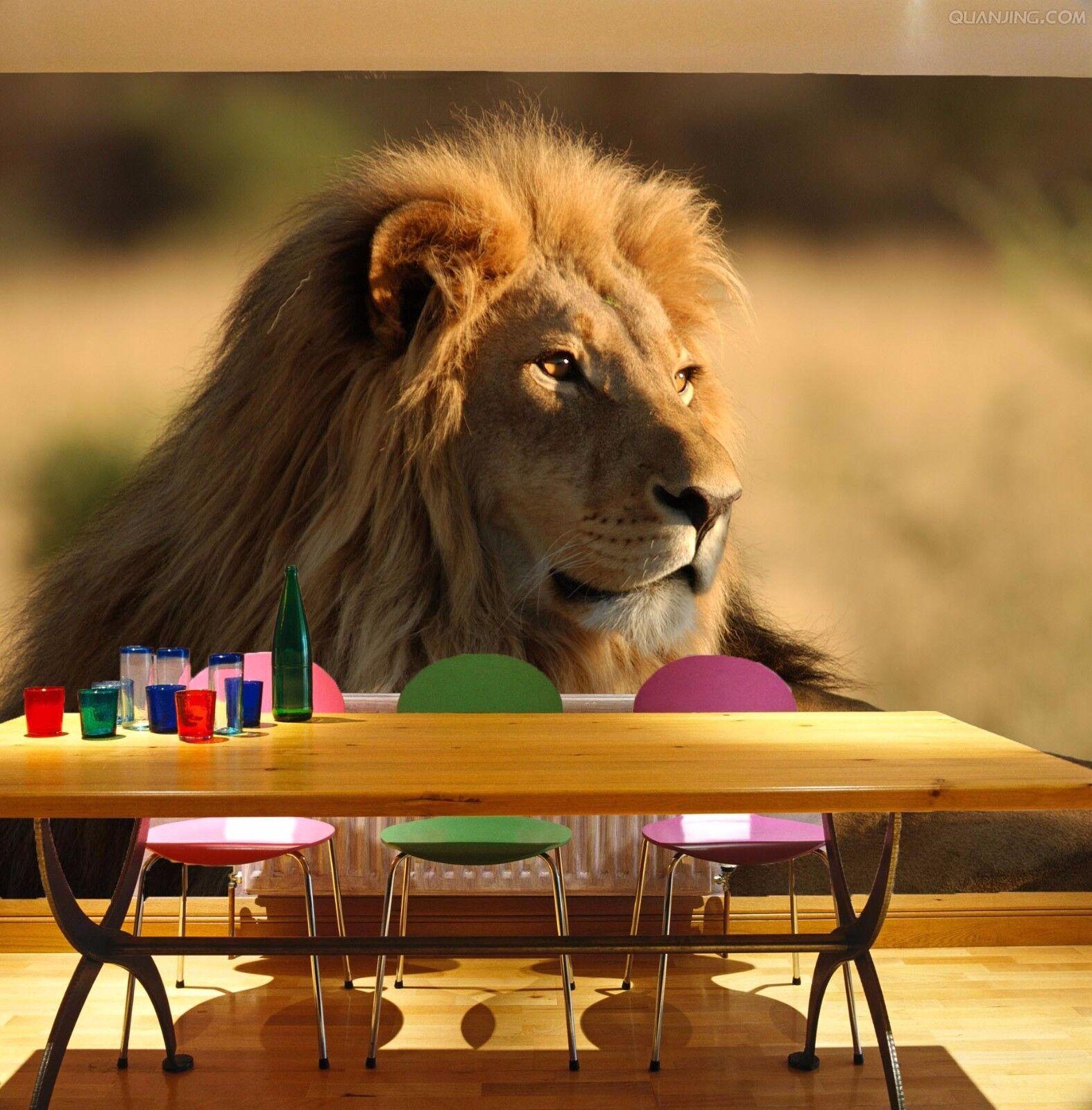 3D Mächtiger Löwe 853 Tapete Wandgemälde Tapete Tapeten Bild Bild Bild Familie DE Summer  | Erste Klasse in seiner Klasse  | Modern Und Elegant  | Outlet Online  87f63d