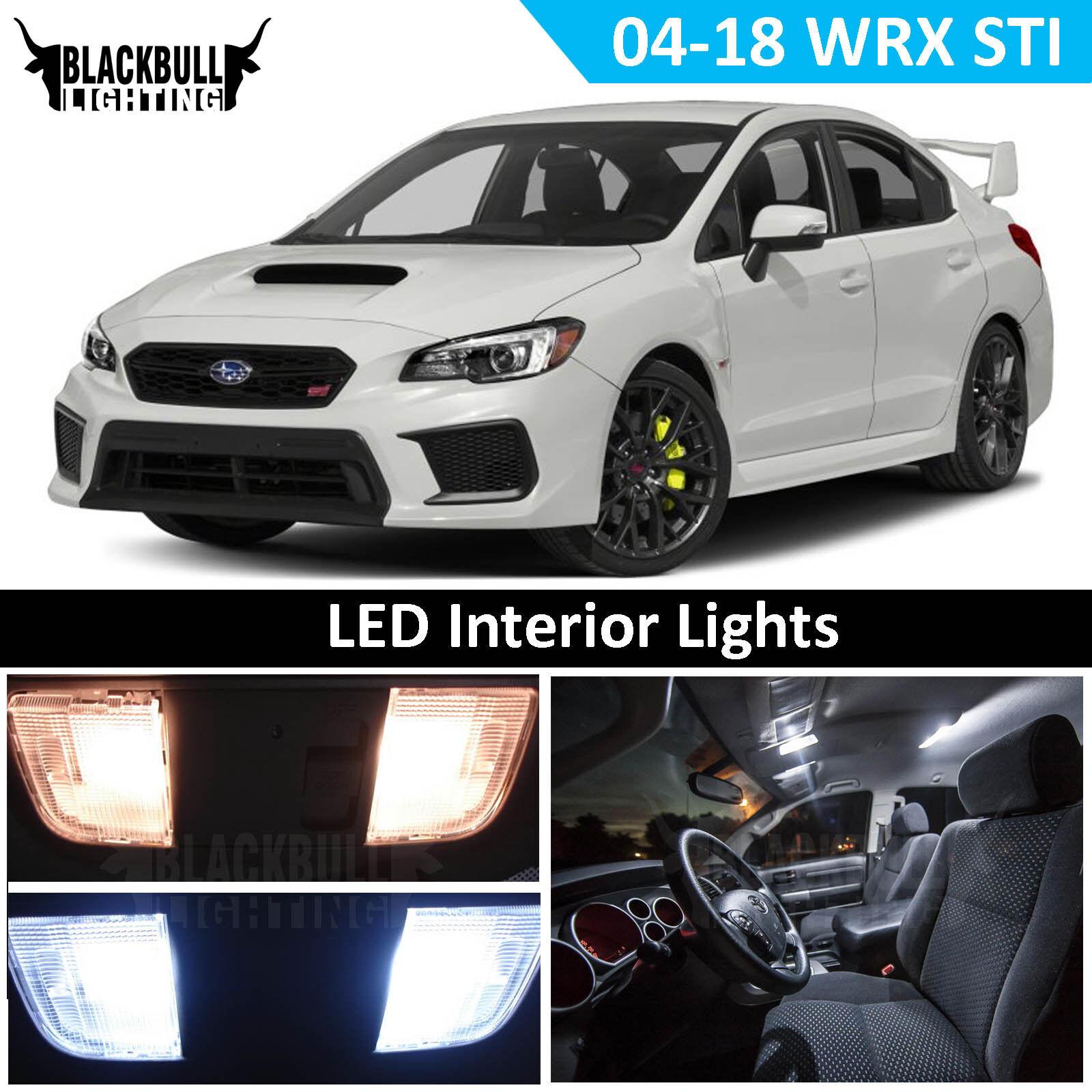 Details About White Led Interior Reverse Light Kit For 2004 2017 Subaru Wrx Sti 8 Bulbs