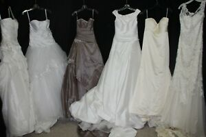 NWD lot of 6 full length bridal gowns, seamstress lot, Sottero, Alexander & more