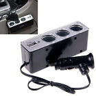 Car Cigarette Lighter Socket Splitter Charger Power Adapter DC 12V + USB 3 Way