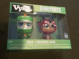 Funko-Vynl-Vinyl-Collectibles-Fortnite-Figures-Rex-and-Tricera-Ops-NEW-MIB