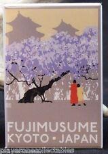 "Fujimusume / Kyoto Japan Travel Poster 2"" X 3"" Fridge / Locker Magnet."