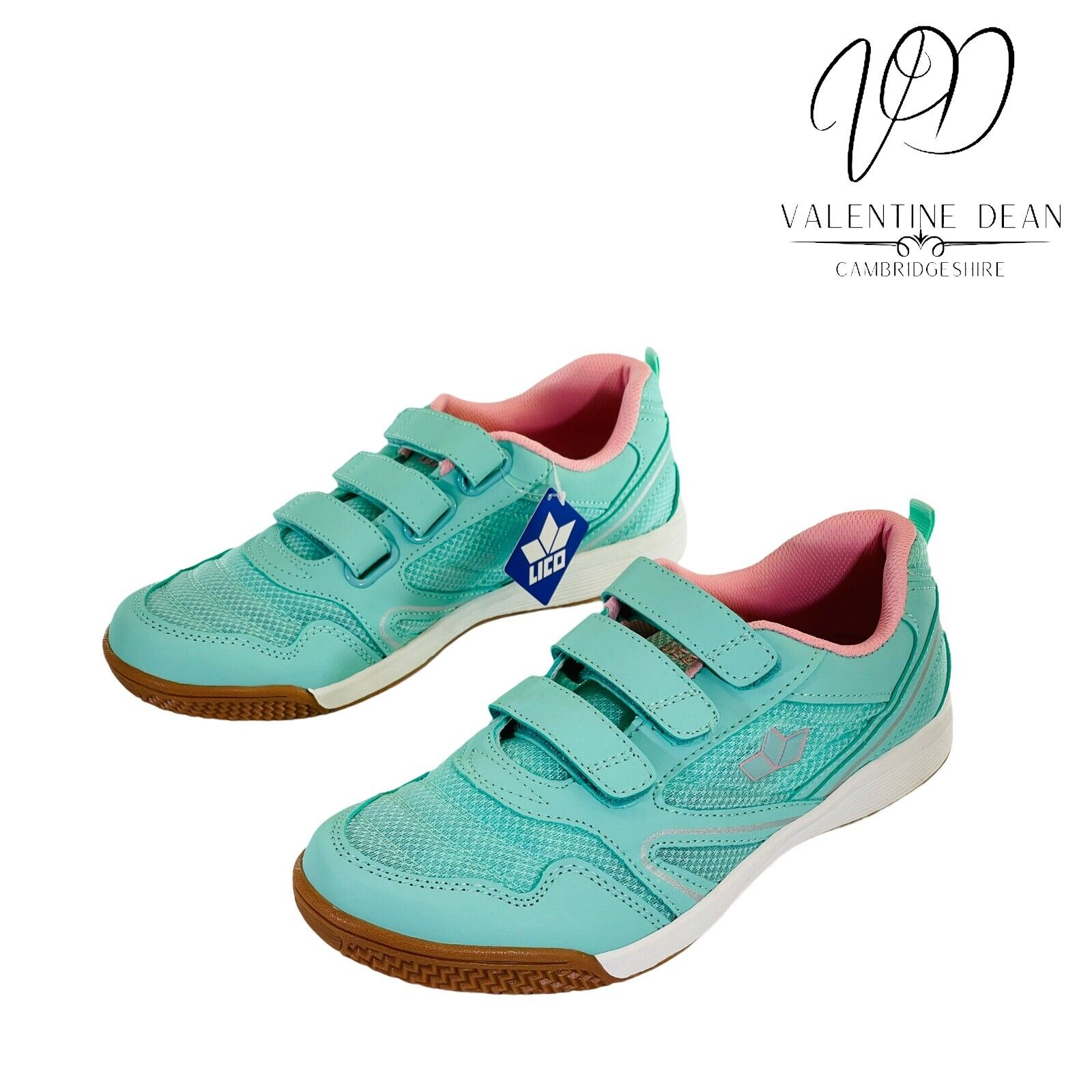 Lico Boulder V Women's Trainers Unisex Turquoise & Pink Mesh Trainers Size 7 Uk
