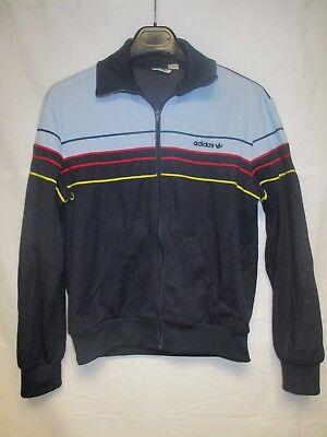 Veste ADIDAS vintage tracktop jacket giacca bleu marine 80's jacke 168 S VENTEX | eBay