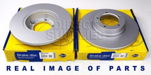 2 X FRONT AXLE BRAKE DISCS FORD FOCUS VOLVO C70 S40 V40 V50 1.6 1.8 2.0 2.4 2.5