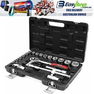 "Socket Set Quality MPT Ratchet Wrench Tool Kit 1//2/"" Drive Metric Mechanics 12pc"