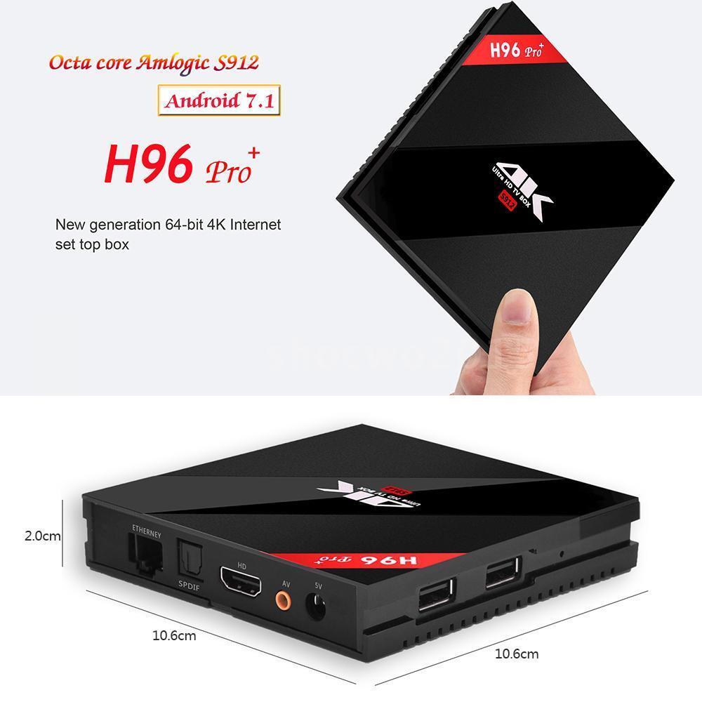 Octa Core H96 Pro+ Plus 3GB/16GB BT WIFI Amlogic S912 4K Android 7.1 TV Box Featured