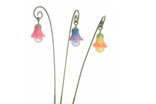 Accessories Glow Flowers Set of 3 Miniature Dollhouse FAIRY GARDEN