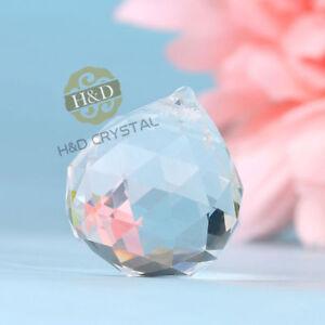 1 Clear Feng Shui Crystal Ball Lamp Prism Rainbow Suncatcher Wedding Decor 20mm