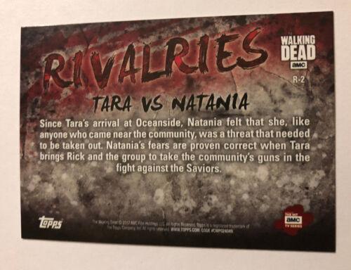 2017 Topps The Walking Dead Season 7 Rivalries Insert #R-2 Tara /& Natania