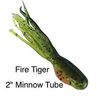 2 Minnow Tube Crappie Jig Skirts 50 Pack Fire Tiger