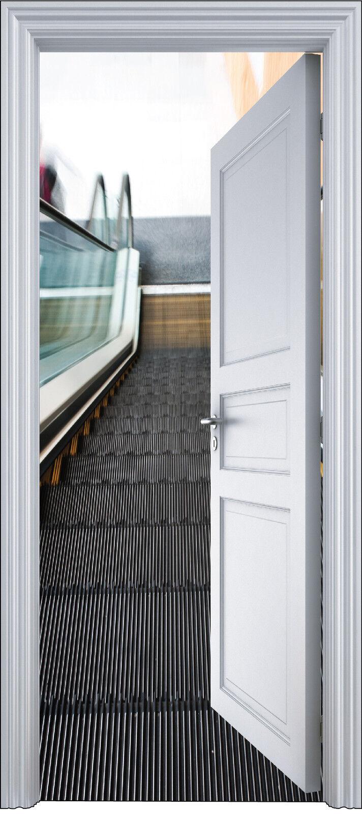 Aufkleber Tür Schein Auge Deko Rolltreppe 90x200 cm Ref 2131