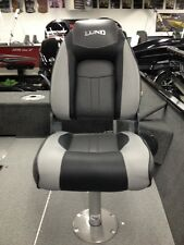2014-2016 Lund Standard Seat - New - Grey & Black - Fishing Boat Seat