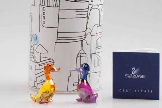 Swarovski 1039868 'Lily & Luke coppia di anatre' Crystal figurine 2.7 x 4.1 new