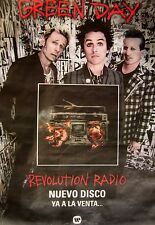 """GREEN DAY """"REVOLUTION RADIO - NUEVO DISCO"""" LARGE PROMO SUBWAY POSTER FROM CHILE"""