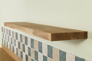 pretty nice 40740 c1e27 Details about Solid Oak Wooden Floating Shelves - Top Quality Natural  Timber Shelf / Shelving