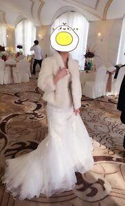 Rare New Ivory / White Mink Fur Jacket Coat perfect for wedding