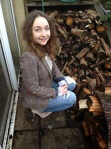 Tweed Maten Eu42 Uk16 H m elleboogpatch Trendy Us12 Blazer jas Bruin wTUpSq